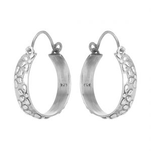 92.5 Sterling Silver Oxidized Classic Hoops